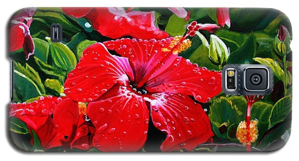 Red Hibiscus Galaxy S5 Case by Marionette Taboniar