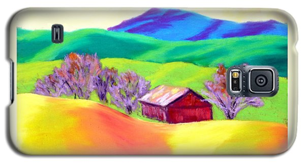Galaxy S5 Case featuring the painting Red Hill Barn by Nancy Jolley