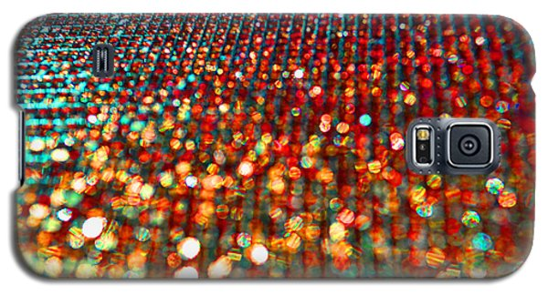 Red Hot Bokeh Bling Galaxy S5 Case