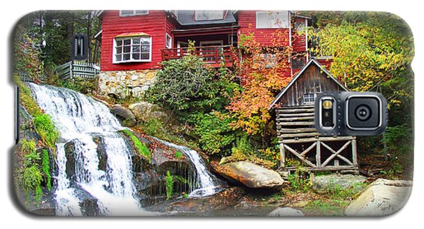 Red House By The Waterfall Galaxy S5 Case