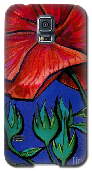 Red Ibiscus - Botanical Galaxy S5 Case