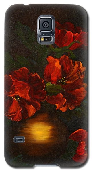 Galaxy S5 Case featuring the painting Red Is My Color by J Cheyenne Howell
