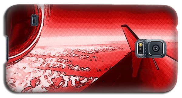Galaxy S5 Case featuring the photograph Red Jet Pop Art Plane by R Muirhead Art