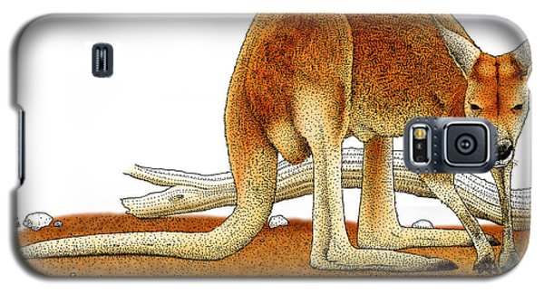 Red Kangaroo Galaxy S5 Case by Roger Hall