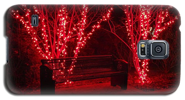 Red Lights And Bench Galaxy S5 Case