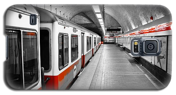 Boston Galaxy S5 Case - Red Line by Charles Dobbs