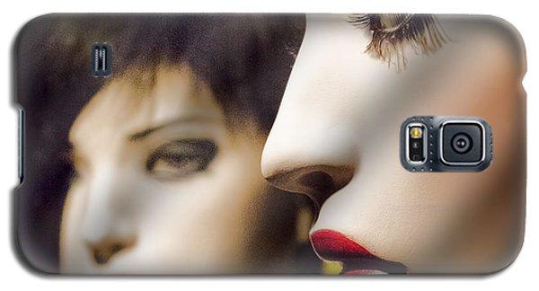 Red Lips - Black Heart Galaxy S5 Case