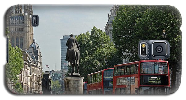 Red London Bus In Whitehall Galaxy S5 Case