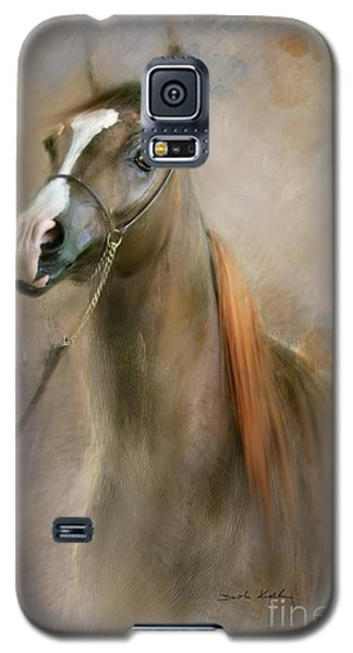 Galaxy S5 Case featuring the digital art Red Mane by Dorota Kudyba