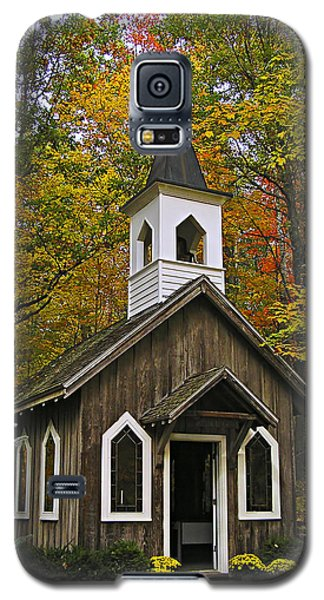 Galaxy S5 Case featuring the photograph Red Mill Chapel by Judy  Johnson