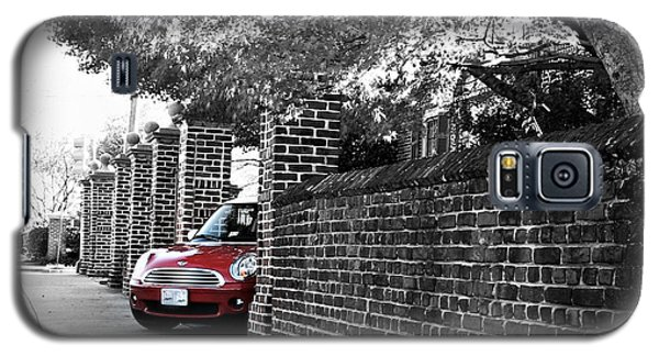 Galaxy S5 Case featuring the photograph Red Mini Cooper- The Debut by Nancy Dole McGuigan