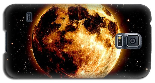 Red Moon Galaxy S5 Case by James Barnes