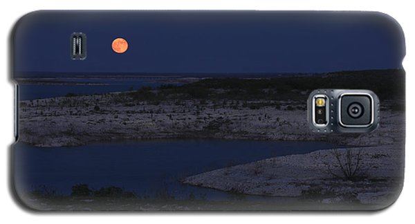 Red Moon Rising Galaxy S5 Case by Amber Kresge