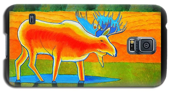 Galaxy S5 Case featuring the painting Red Moose by Joseph J Stevens