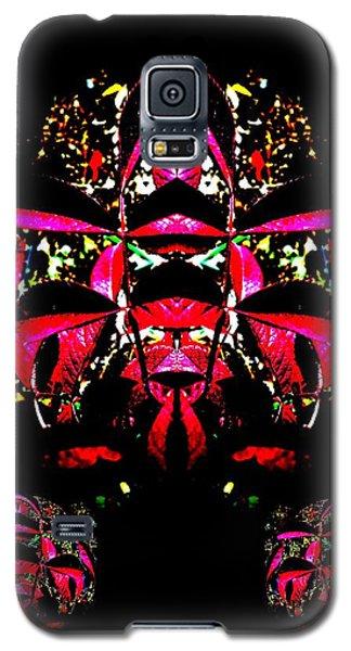 Galaxy S5 Case featuring the digital art Red Mosaic by Aliceann Carlton
