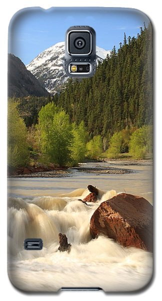 Galaxy S5 Case featuring the photograph Red Mountain Snowmelt by Scott Rackers