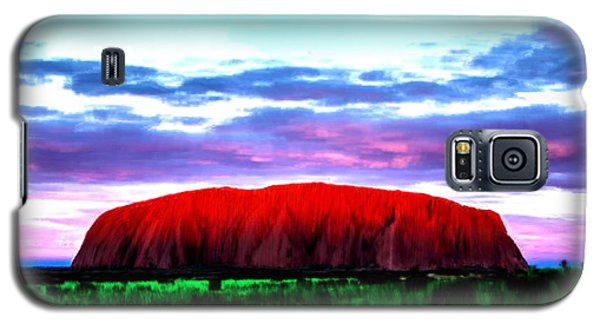 Galaxy S5 Case featuring the painting Red Mountain Sunset by Bruce Nutting