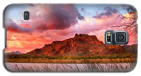Red Mountain Sunset Galaxy S5 Case