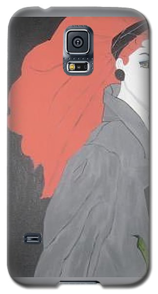 Galaxy S5 Case featuring the painting RED by Nora Shepley