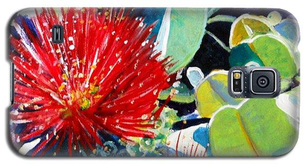 Red Ohia Lehua Flower Galaxy S5 Case