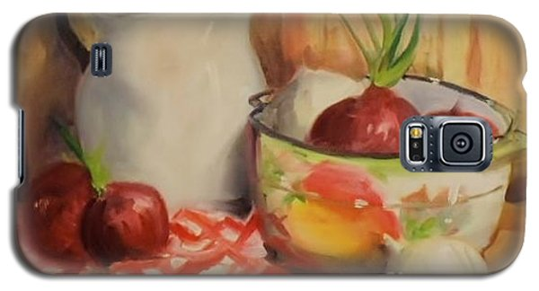Galaxy S5 Case featuring the painting Red Onions by Marcia Dutton