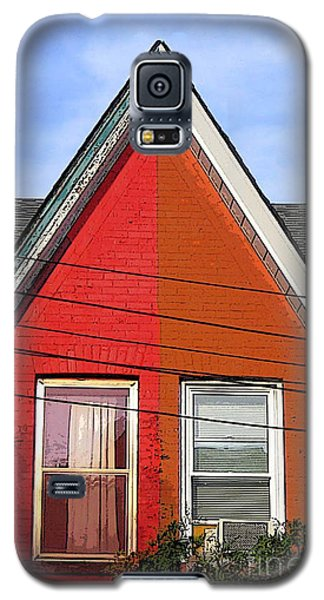 Galaxy S5 Case featuring the photograph Red-orange House by Nina Silver