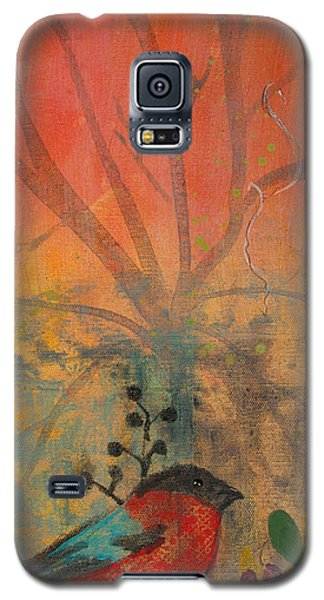 Galaxy S5 Case featuring the painting Red Peace Bird by Robin Maria Pedrero
