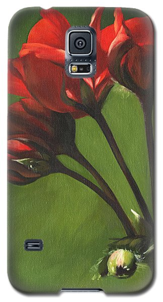 Red Pelargonium Galaxy S5 Case by Alecia Underhill