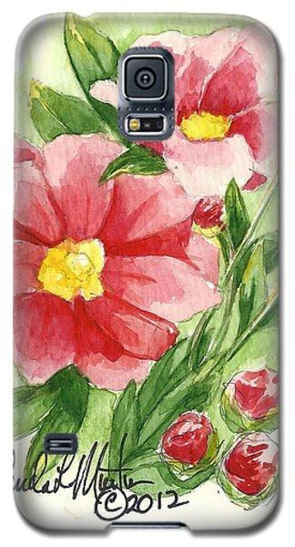 Red Peony Galaxy S5 Case