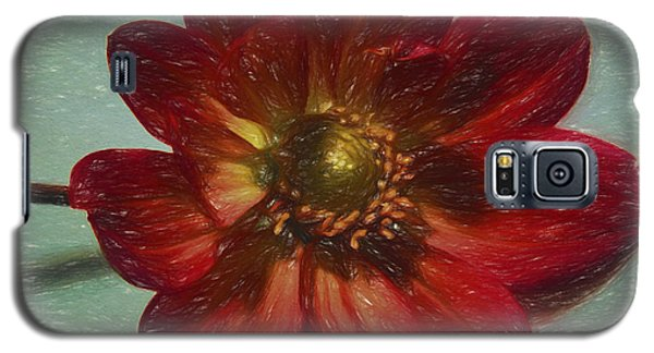 Red Petal Sketch Galaxy S5 Case by Terry Cork