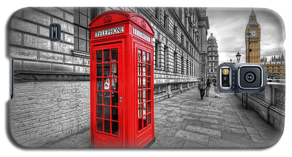 Red Phone Box And Big Ben Galaxy S5 Case