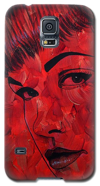 Red Pop Bettie Galaxy S5 Case by Malinda Prudhomme