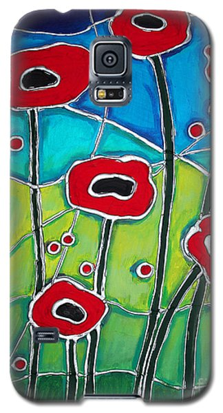 Galaxy S5 Case featuring the painting Red Poppies 1 by Cynthia Snyder