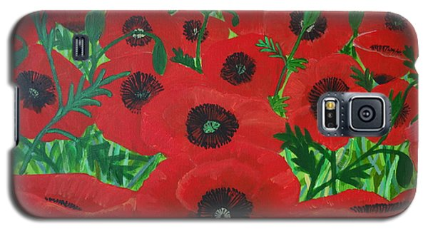 Red Poppies 1 Galaxy S5 Case