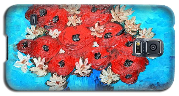 Red Poppies And White Daisies Galaxy S5 Case