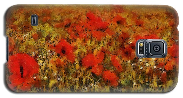 Galaxy S5 Case featuring the painting Red Poppies by Georgi Dimitrov