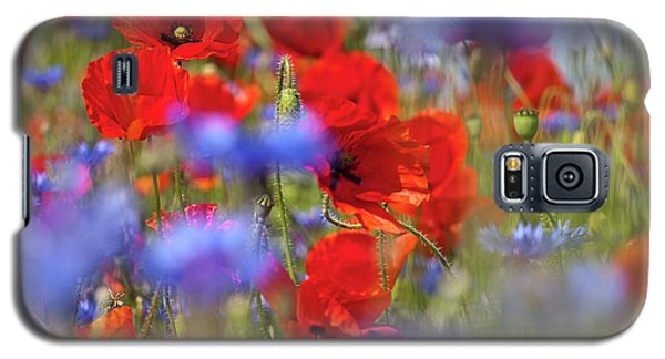 Red Poppies In The Maedow Galaxy S5 Case