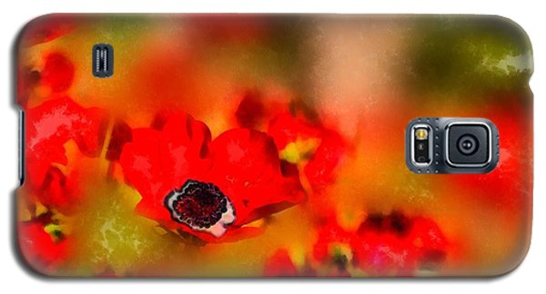 Red Poppies Inspiration Galaxy S5 Case