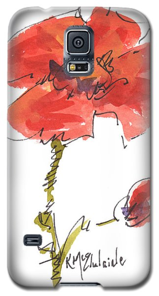 Red Poppy And Pal Galaxy S5 Case