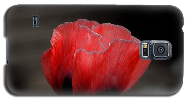 Red Poppy Flower Galaxy S5 Case