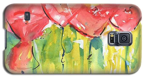 Red Poppy Party Galaxy S5 Case