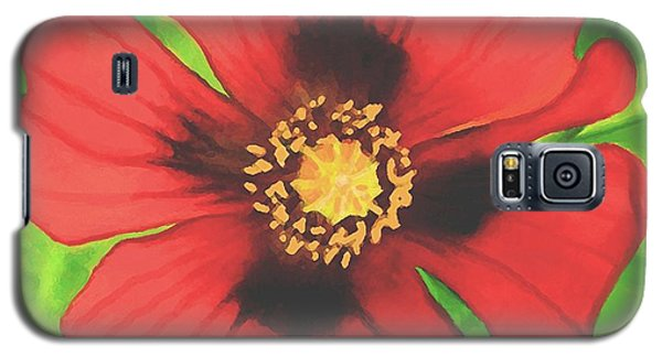 Galaxy S5 Case featuring the painting Red Poppy by Sophia Schmierer