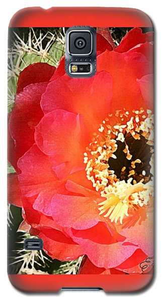 Red Prickly Pear Blossom Galaxy S5 Case