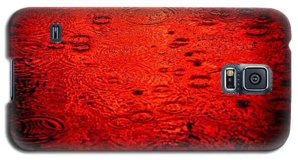 Red Rain Galaxy S5 Case