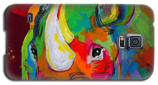 Red Rhino Galaxy S5 Case by Tracy Miller