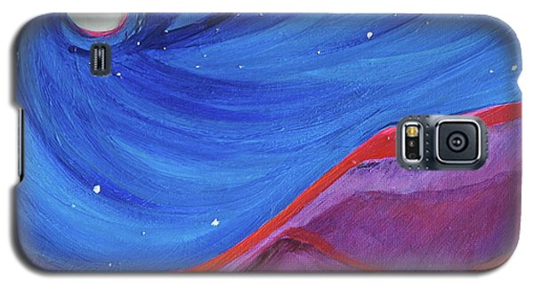 Galaxy S5 Case featuring the painting Red Ridge By Jrr by First Star Art