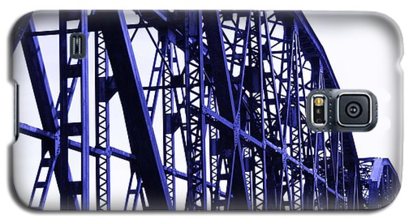 Galaxy S5 Case featuring the photograph Red River Train Bridge #5 by Robert ONeil