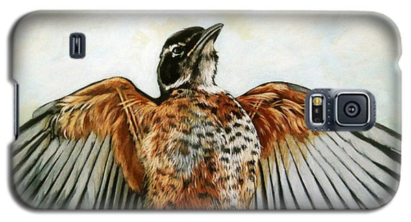 Red Robin Bird Realistic Animal Art Original Painting Galaxy S5 Case