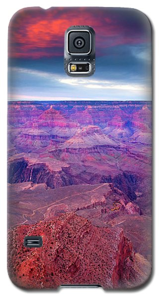 Sunset Galaxy S5 Case - Red Rock Dusk by Mike  Dawson