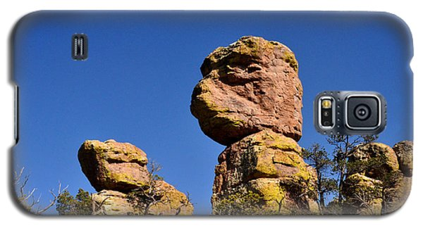 Galaxy S5 Case featuring the photograph Red Rocks In The Chiracahua Mountains by Diane Lent